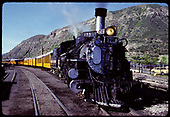 D&amp;RGW #473 K-28 pulling excursion train - Durango.<br /> D&amp;RGW  Durango, CO