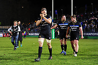 Charlie Ewels acknowledges the crowd after the match. European Rugby Champions Cup match, between Bath Rugby and RC Toulon on December 16, 2017 at the Recreation Ground in Bath, England. Photo by: Patrick Khachfe / Onside Images