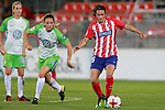 Atletico de Madrid's Silvia Meseguer (r) and VfL Wolfsburg's Sara Bjork Gunnarsdottir during UEFA Womens Champions League 2017/2018, 1/16 Final, 1st match. October 4,2017. (ALTERPHOTOS/Acero)