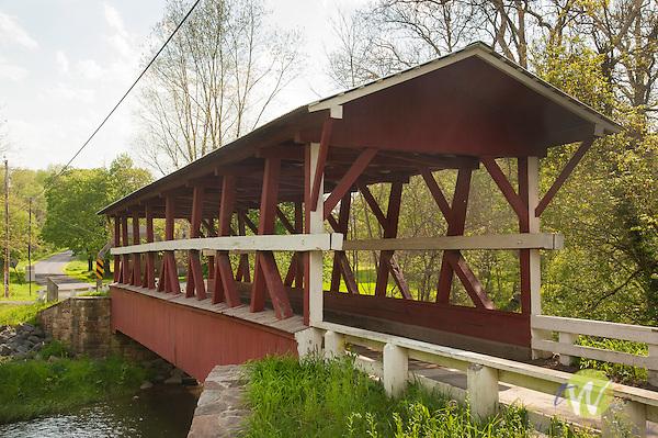 Bedford County Bridge #15. Colvin Covered Bridge. 1880. Shawnee Creek. Multiple King Post.