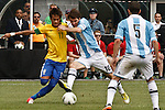 Friendly soccer match Argentina Vs Brasil In New Jersey