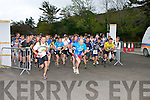 The runners take off at the start of  the Killarney Adventure race on Saturday outside Kate Kearneys Cottage..