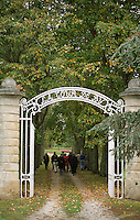 The gate leading to the vineyards. Chateau la Tour de By, Medoc, Bordeaux, France
