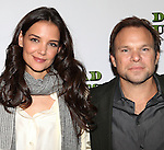 Katie Holmes and Norbert Leo Butz  attending the Meet & Greet the cast of the new Broadway Play 'Dead Accounts' on October 12, 2012 in New York City.