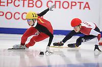 "SHORT TRACK: MOSCOW: Speed Skating Centre ""Krylatskoe"", 14-03-2015, ISU World Short Track Speed Skating Championships 2015, Dajing WU (#115   CHN), ©photo Martin de Jong"