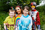 The O'Leary family from Kilcummin, Ronan, Aoibhainn and Cillian O'Leary with Ruby the Rainbow Fairy at the Kilflynn Fairy Festival on Sunday.