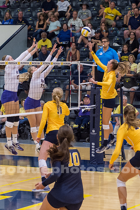 8/27/16 UM Women's Volleyball defeats University of Northern Iowa.