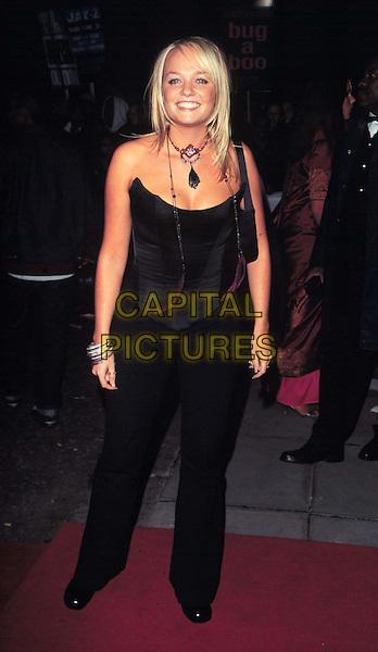 EMMA BUNTON - SPICE GIRLS .Ref: 8932.black corset, bustier, necklace, trousers, bangles, bracelets.www.capitalpictures.com.sales@capitalpictures.com.© Capital Pictures.