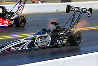 Jul. 27, 2014; Sonoma, CA, USA; NHRA top fuel driver Shawn Langdon during qualifying for the Sonoma Nationals at Sonoma Raceway. Mandatory Credit: Mark J. Rebilas-