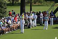 Cameron Smith (USA) on the 18th tee during the 1st round at the The Masters , Augusta National, Augusta, Georgia, USA. 11/04/2019.<br /> Picture Fran Caffrey / Golffile.ie<br /> <br /> All photo usage must carry mandatory copyright credit (&copy; Golffile | Fran Caffrey)