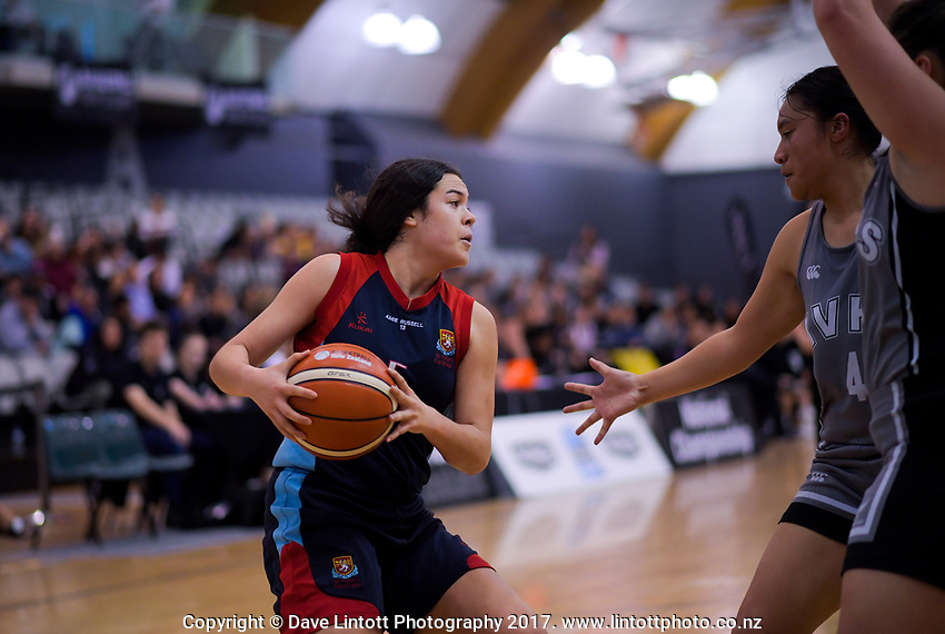 Charlisse Leger-Walker in action during the 2018 Schick AA Girls' Secondary Schools Basketball Premiership National Championship final between Hutt Valley High School and St Peter's School Cambridge at the B&M Centre in Palmerston North, New Zealand on Saturday, 6 October 2018. Photo: Dave Lintott / lintottphoto.co.nz