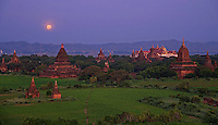 Moon rise over Bagan, Myanmar