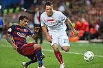 FC Barcelona's Daniel Alves (L) and Sevilla CF's Konoplyanka (R)  during Spanish Kings Cup Final match. May 22,2016. (ALTERPHOTOS/Rodrigo Jimenez)