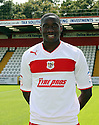 Lucas Akins of Stevenage. Stevenage FC photoshoot -  Lamex Stadium, Stevenage . - 16th August, 2012. © Kevin Coleman 2012