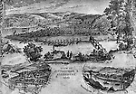 1861-Rendering of the City of Pittsburgh and Allegheny in 1861 fron Mt Washington