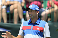 Sergio Garcia (ESP) on the 1st tee to start his match during Thursday's Round 1 of the 117th U.S. Open Championship 2017 held at Erin Hills, Erin, Wisconsin, USA. 15th June 2017.<br /> Picture: Eoin Clarke | Golffile<br /> <br /> <br /> All photos usage must carry mandatory copyright credit (&copy; Golffile | Eoin Clarke)