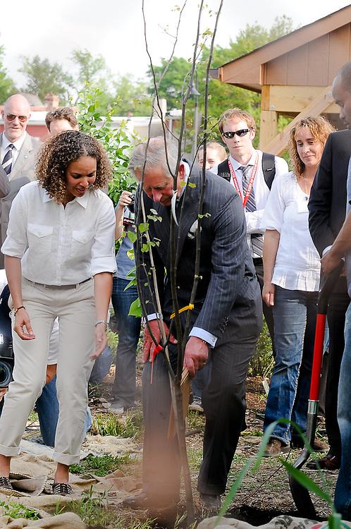 Prince Charles of Wales visits LeDroit Park, DC