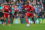 30th September 2017, The Hawthorns, West Bromwich, England; EPL Premier League football, West Bromwich Albion versus Watford; Abdoulaye Doucouré of Watford brings the ball forward