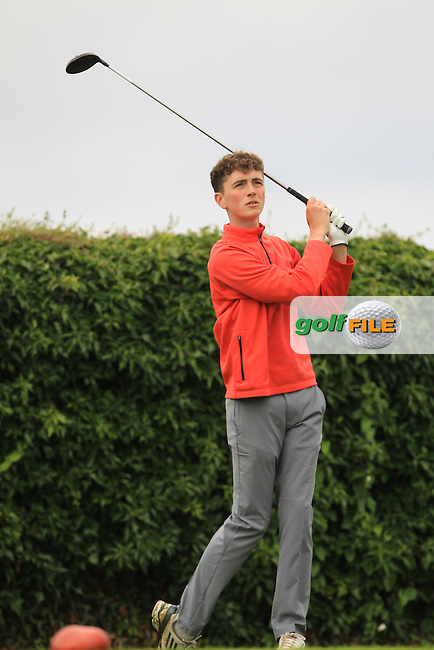 Ross McCabe (Roganstown) on the 5th tee during Round 3 of the 2016 Connacht U18 Boys Open, played at Galway Golf Club, Galway, Galway, Ireland. 07/07/2016. <br /> Picture: Thos Caffrey | Golffile<br /> <br /> All photos usage must carry mandatory copyright credit   (&copy; Golffile | Thos Caffrey)