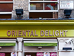 "Oriental Delight - The ""Oriental Delight"" Asian food store in Macclesfield Street, Chinatown, London, England, UK"