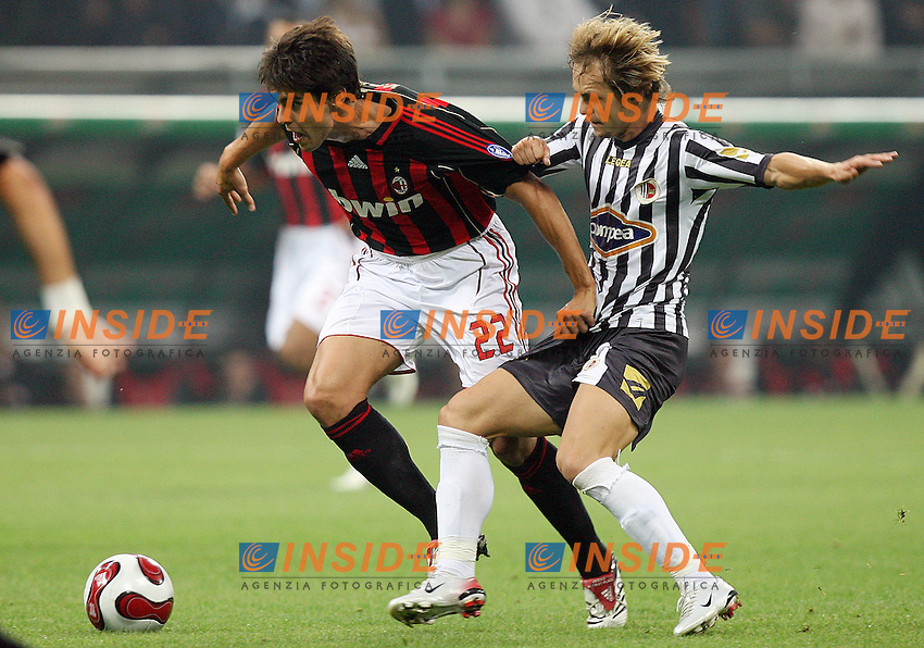 Milano 20/09/2006<br /> AC Milan-Ascoli <br /> Campionato Italiano Serie A<br /> Kaka Milan Viktor Boudianski Ascoli<br /> Photo Homer - INSIDE