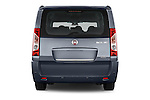Straight rear view of a 2015 Fiat SCUDO EXECUTIVE 5 Door Combi Rear View  stock images