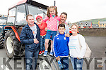 Pictured at the Sean O'Shea Vintage Tractor Run in Cahersiveen on Sunday in aid of Motor Neurons Disease were front l-t; Cian O'Donoghue, Catherine McCormack, back l-r; Sean Griffin, Jamie Griffin, Callie Griffin & Patrick O'Donoghue.