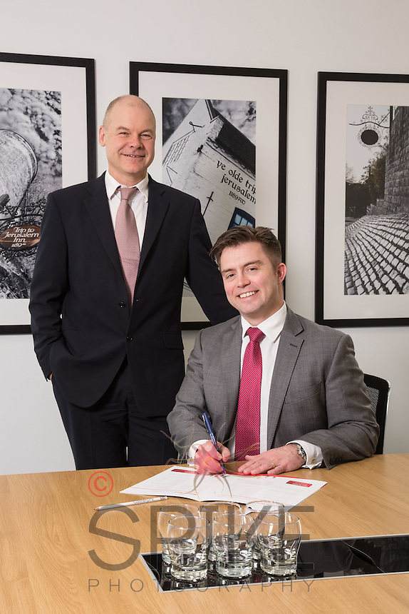 Senior Partner Andy Mattews (left) with Paul Simpson from Gateley plc Nottingham