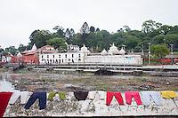 Laundry drying on a wall at Pashupati Nath temple in Kathmandu, Nepal