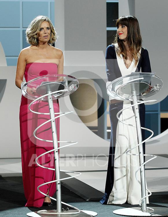 The actresses Edurne Ormazabal (l) and Barbara Goenaga during the Awards Gala in the 60th San Sebastian Donostia International Film Festival - Zinemaldia.September 29,2012.(ALTERPHOTOS/ALFAQUI/Acero)