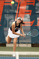 SAN ANTONIO, TX - FEBRUARY 15, 2020: The University of Texas Rio Grande Valley Vaqueros fall to the University of Texas at San Antonio Roadrunners 7-0 at the UTSA Tennis Center (Photo by Jeff Huehn).