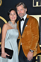 LOS ANGELES, CA. September 17, 2018: Nikolaj Coster-Waldau & Nukaaka Coster-Waldau at The HBO Emmy Party at the Pacific Design Centre.<br /> Picture: Paul Smith/Featureflash