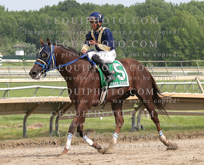 El Churruca #5 with Angel Arroyo riding won the $200,000 Parx Dash at Parx Racing in Bensalem, Pennsylvania June 18, 2011. Photo By Alyssa Spakowski/EQUI-PHOTO