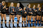 GRAND RAPIDS, MI - NOVEMBER 18: Claremont-Mudd-Scripps applaud during player announcements during the Division III Women's Volleyball Championship held at Van Noord Arena on November 18, 2017 in Grand Rapids, Michigan. Claremont-M-S defeated Wittenberg 3-0 to win the National Championship. (Photo by Doug Stroud/NCAA Photos via Getty Images)