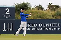 Oliver Wilson (ENG) on the 2nd during Round 2 of the Alfred Dunhill Links Championship 2019 at Kingbarns Golf CLub, Fife, Scotland. 27/09/2019.<br /> Picture Thos Caffrey / Golffile.ie<br /> <br /> All photo usage must carry mandatory copyright credit (© Golffile | Thos Caffrey)