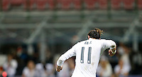Calcio, finale di Champions League: Real Madrid vs Atletico Madrid. Stadio San Siro, Milano, 28 maggio 2016.<br /> Real Madrid's Gareth Bale celebrates after scoring during the penalty shootout of the Champions League final match between Real Madrid and Atletico Madrid, at Milan's San Siro stadium, 28 May 2016. Real Madrid won 5-4 on penalties after the match ended 1-1.<br /> UPDATE IMAGES PRESS/Isabella Bonotto