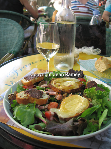 Traditional French Salad & Tapenade, Provence
