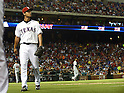 Yu Darvish (Rangers),<br /> AUGUST 30, 2013 - MLB :<br /> The scoreboard displays &quot;strikeout&quot; as pitcher Yu Darvish of the Texas Rangers walks back to the dugout during the Major League Baseball game against the Minnesota Twins at Rangers Ballpark in Arlington in Arlington, Texas, United States. (Photo by AFLO)