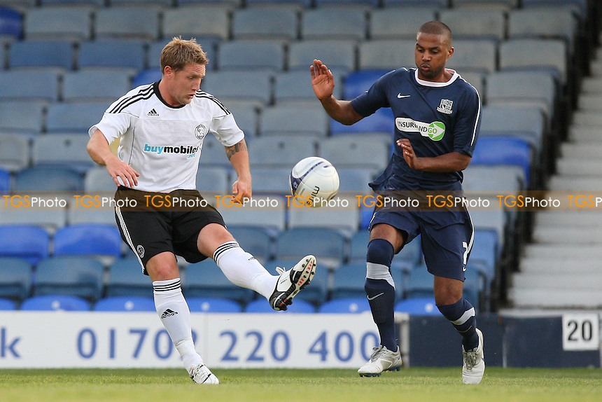 Kris Commons of Derby County and Louis Soares of Southend- Southend United vs Derby County - Pre-Season Friendly Football Match at Roots Hall, Southend-on-Sea, Essex -  19/07/10 - MANDATORY CREDIT: Gavin Ellis/TGSPHOTO - Self billing applies where appropriate - Tel: 0845 094 6026