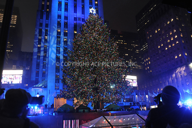 www.acepixs.com<br /> November 30, 2016  New York City<br /> <br /> The Rockefeller Center Christmas Tree lighting ceremony on November 30, 2016 in New York City.<br /> <br /> <br /> Credit: Kristin Callahan/ACE Pictures<br /> <br /> <br /> Tel: 646 769 0430<br /> Email: info@acepixs.com