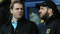 MK Dons Manager, Robbie Neilson speaks to his Assistant, Stevie Crawford during Oxford United vs MK Dons, Sky Bet EFL League 1 Football at the Kassam Stadium on 1st January 2018