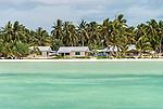 """The Villages"". Accommodation on Kiritimati, Kiribati."