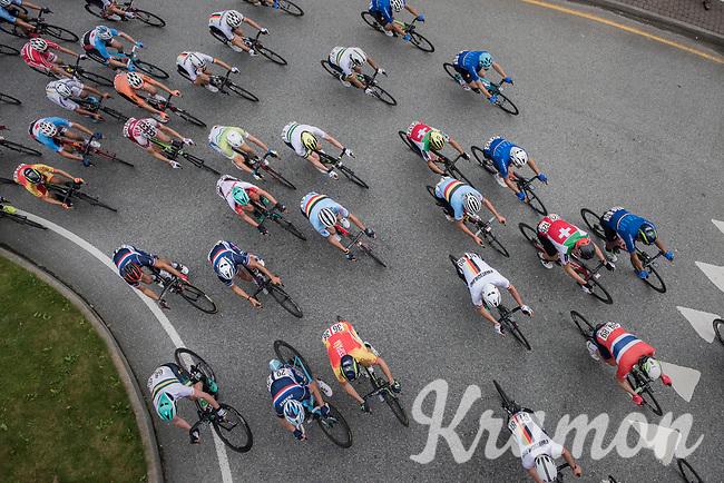overhead view<br /> <br /> Men Elite Road Race<br /> <br /> UCI 2017 Road World Championships - Bergen/Norway
