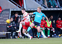 Kyle Dempsey of Fleetwood Town challenges for the ball during the Sky Bet League 1 match between Doncaster Rovers and Fleetwood Town at the Keepmoat Stadium, Doncaster, England on 17 February 2018. Photo by Leila Coker / PRiME Media Images.