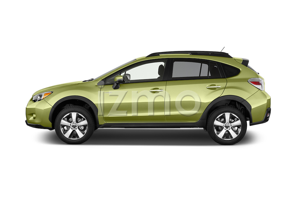 Car driver side profile view of a 2015 Subaru Xv Hybrid 5 Door SUV