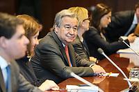 NOVA YORK, EUA, 14.01.2019 - PALESTINA-ONU - O Secretário Geral da ONU, Antônio Guterres é visto na sede das Nações Unidas em Nova York nos Estados Unidos nesta segunda-feira, 14. (Foto: William Volcov/Brazil Photo Press)