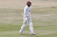 Ryan Patel of Surrey leaves the field having been caught out during Essex CCC vs Surrey CCC, Bob Willis Trophy Cricket at The Cloudfm County Ground on 11th August 2020