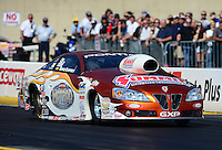 Oct. 5, 2012; Mohnton, PA, USA: NHRA pro stock driver Ronnie Humphrey during qualifying for the Auto Plus Nationals at Maple Grove Raceway. Mandatory Credit: Mark J. Rebilas-
