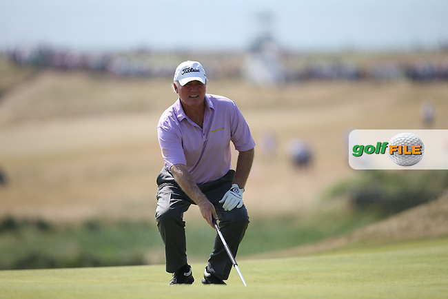Ronan Rafferty (NIR) during Round One of the 2014 Senior Open Championship presented by Rolex from Royal Porthcawl Golf Club, Porthcawl, Wales. Picture:  David Lloyd / www.golffile.ie