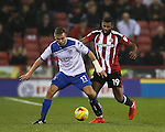 Tom Pope of Bury and Ethan Ebanks-Landell of Sheffield Utd during the English League One match at the Bramall Lane Stadium, Sheffield. Picture date: November 22nd, 2016. Pic Simon Bellis/Sportimage